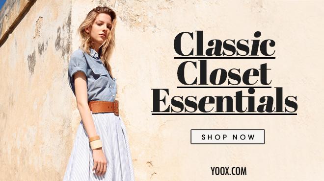 Clozette, Shoppe, Closet, Yoox, Classic Closet Essentials