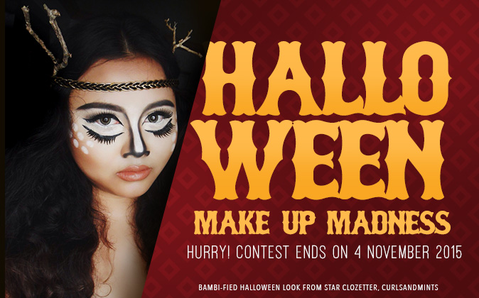 Upload your best Halloween makeup photo for a chance to WIN a perfume. Don't forget to use the hashtags #HalloweenMakeupMadness2015 #Clozette