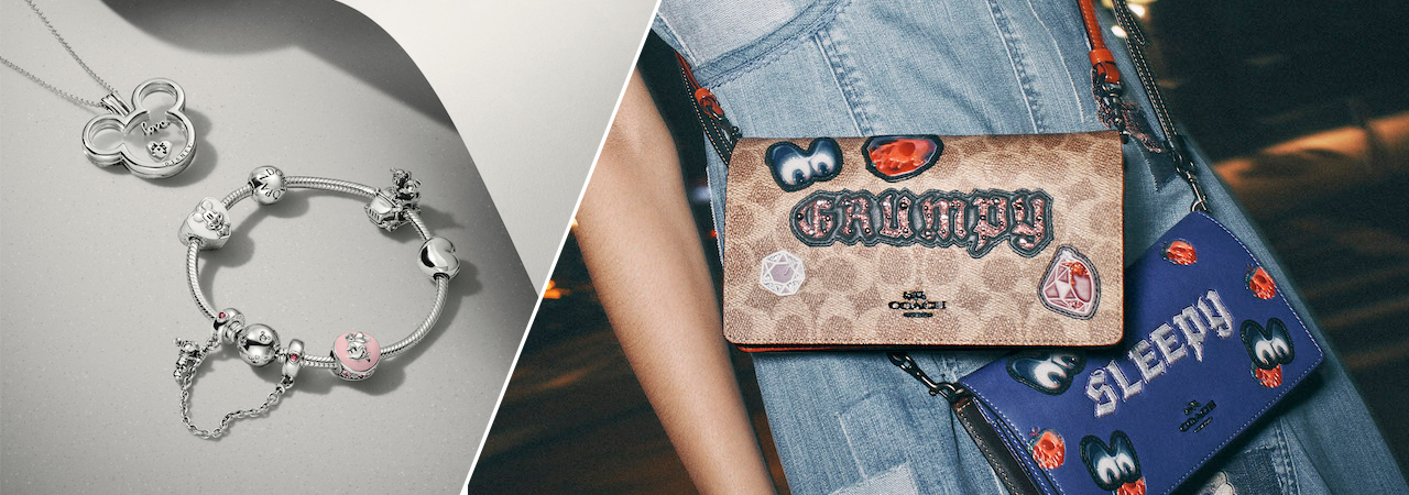 Here are some of the most interesting and memorable fashion collabs between Disney and luxury brands.