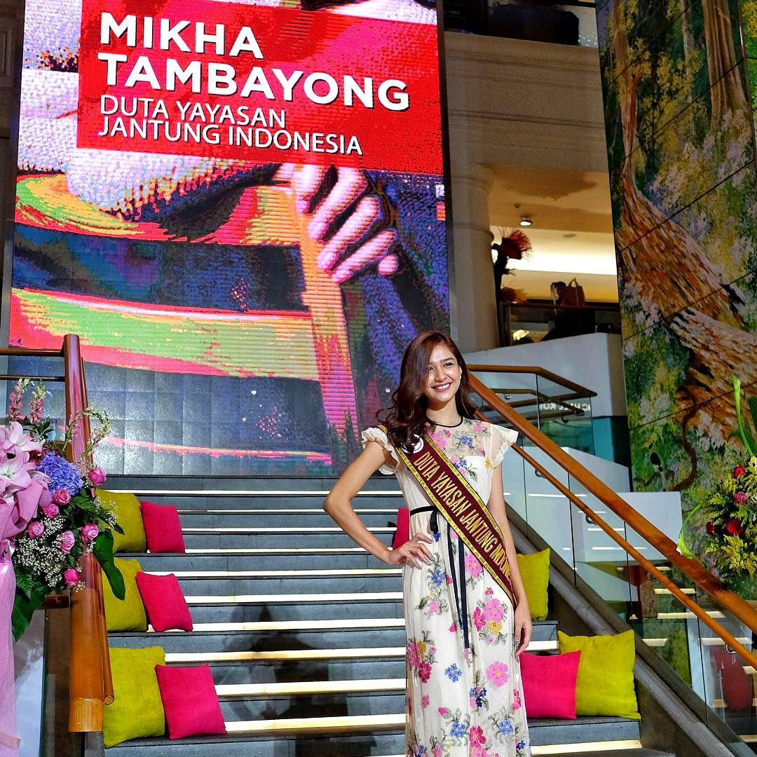 Mikha Tambayong Menjadi Duta Yayasan Jantung Indonesia