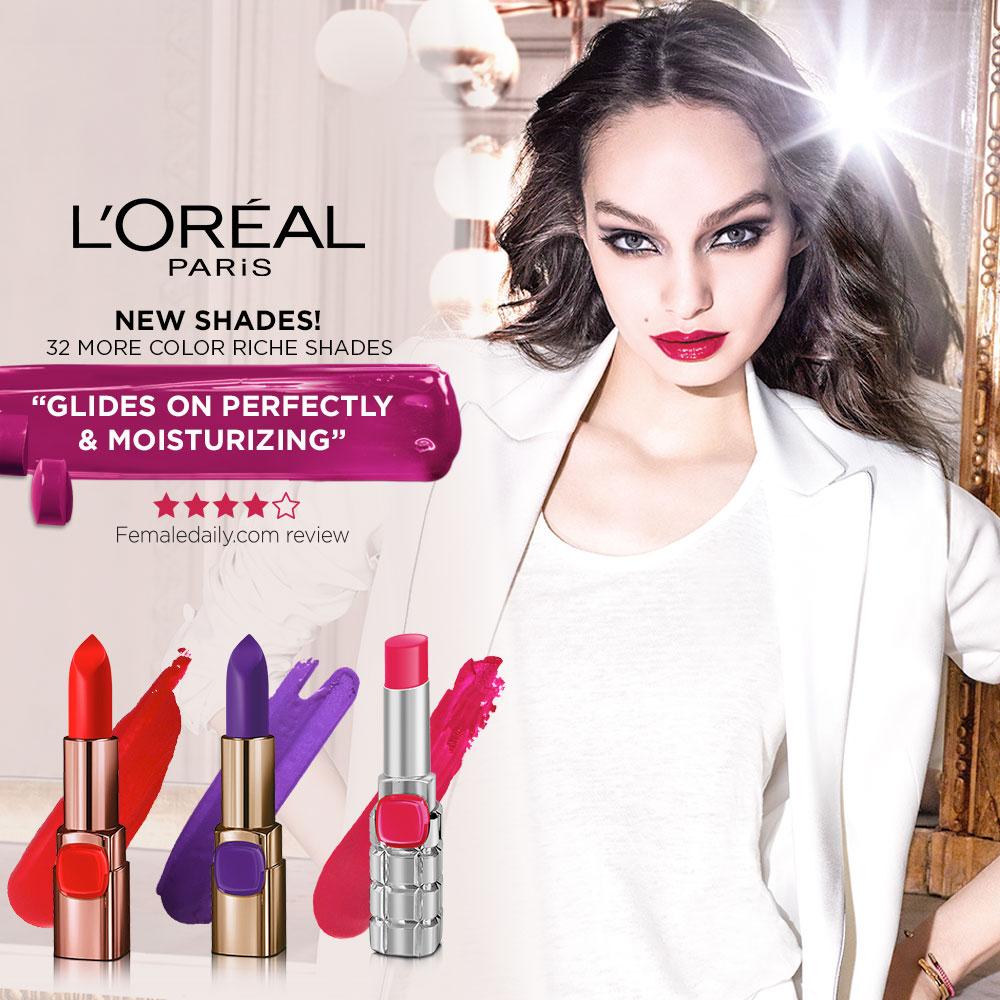 Upgrade Your Lipstick To L'ORÉAL Color Riche