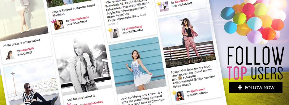 Clozette, Top Users, Follow, Beauty, Fashion, Influencers