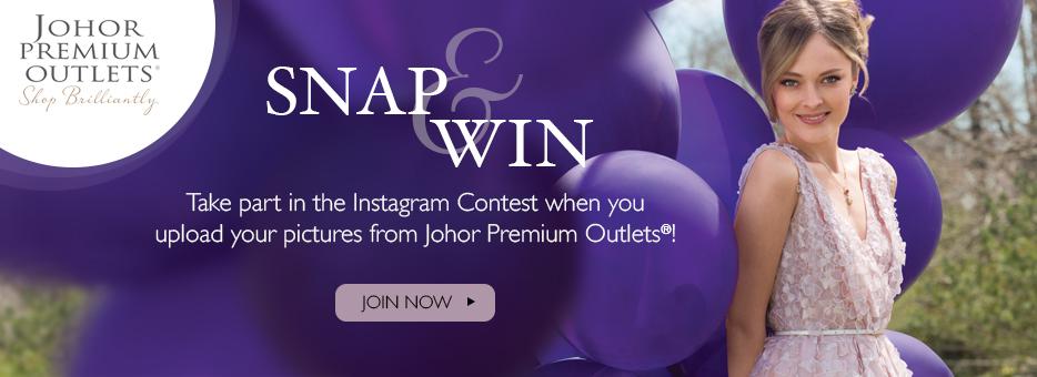 Clozette, Johor Premium Outlets, Snap&Win, Instagram, Contest