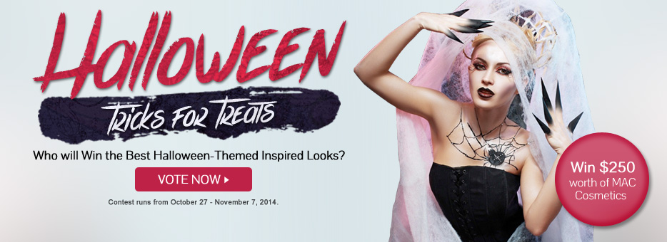 Clozette, Halloween, 2014, Make up, Ambassadors, Mac Cosmetics, Win, Voting Contest