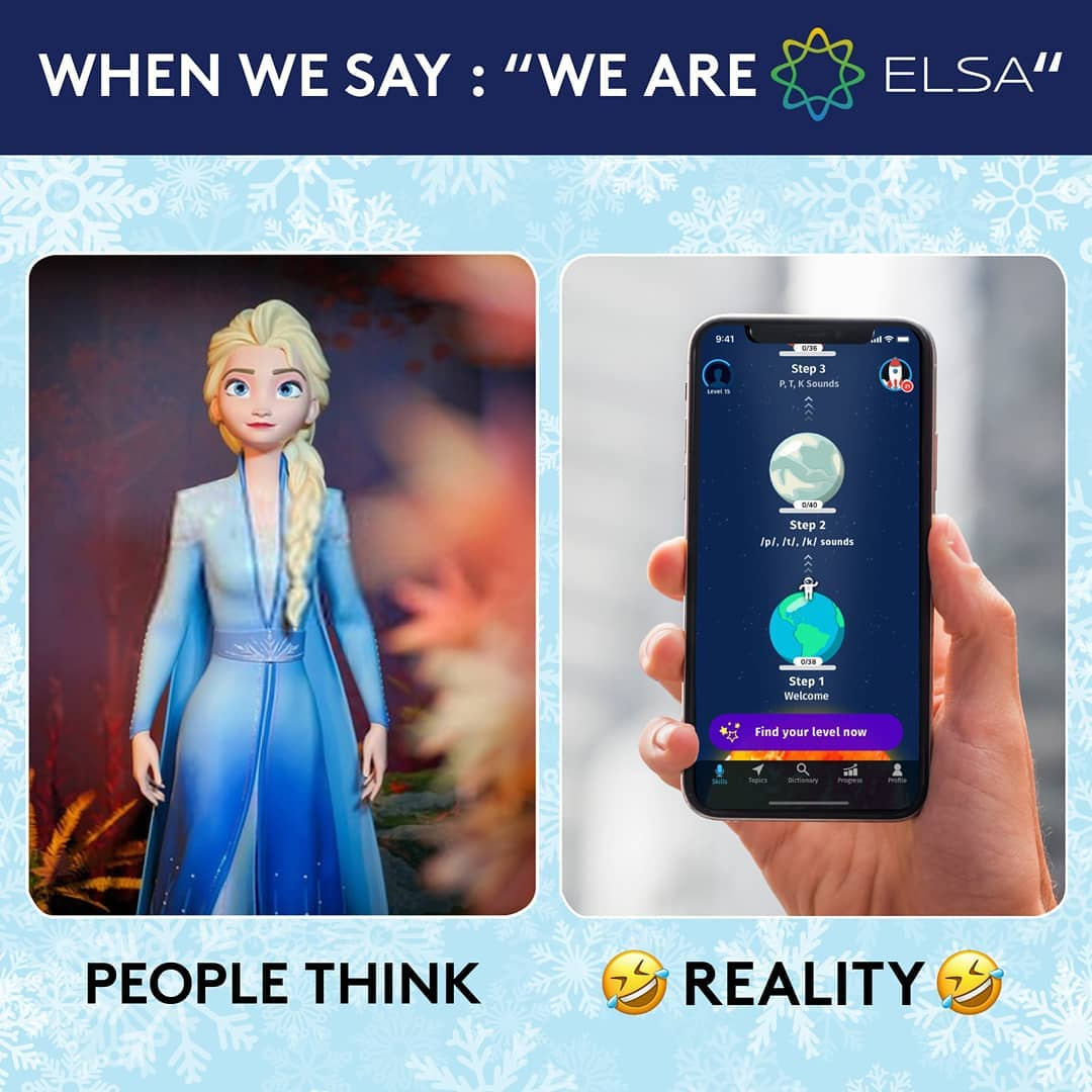 """English Learning With Personal Virtual Coach: """"Elsa"""""""